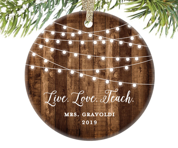 Christmas Ornament for Teacher, Personalized | 562