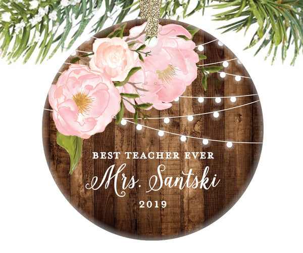 Best Teacher Ever Christmas Ornament, Personalized | 570