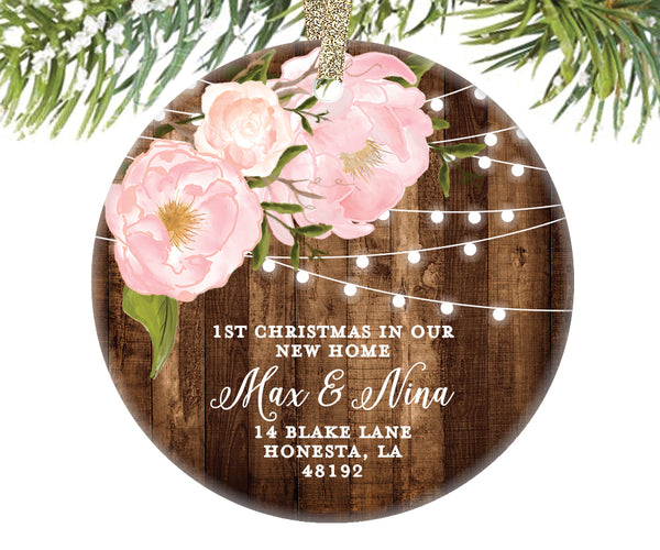 1st Christmas New Home Ornament, Personalized | 572