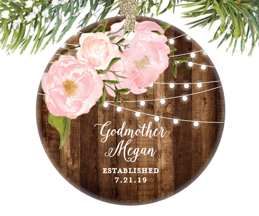 Godmother Christmas Ornament, Personalized | 575