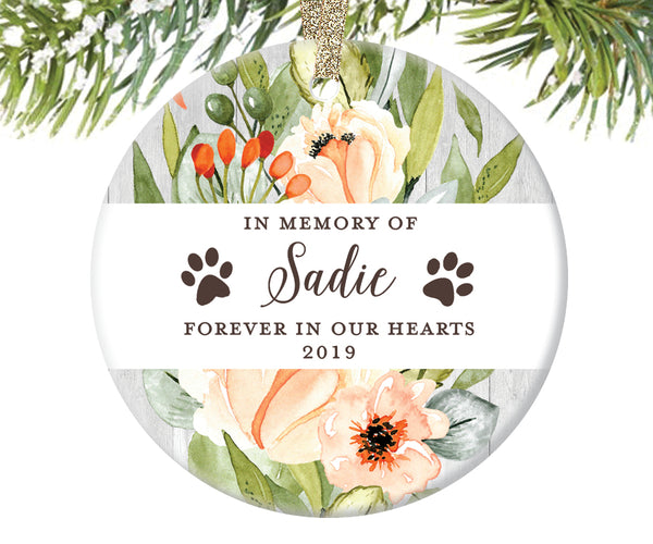 Pet Memorial Christmas Ornament, Personalized | 588