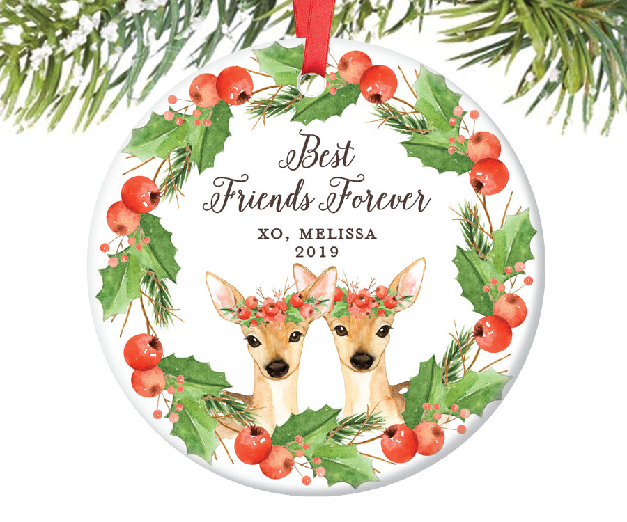 Best Friends Forever Christmas Ornament, Personalized | 593