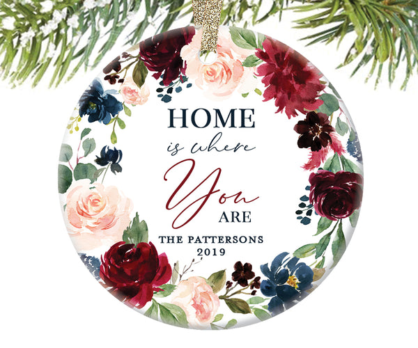 Home Is Where You Are Christmas Ornament, Personalized  | 618