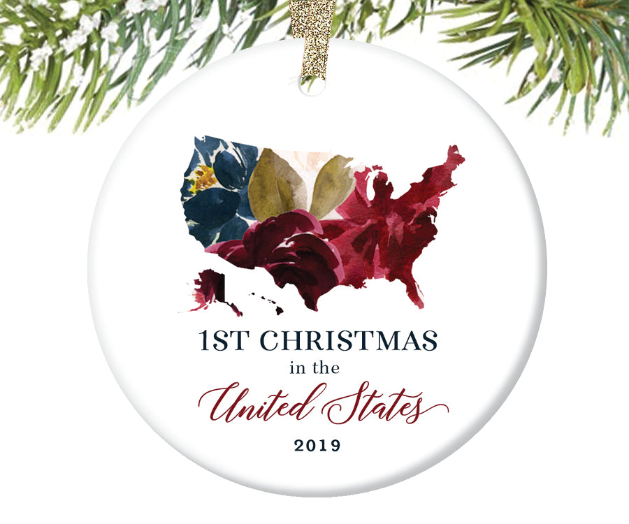 1st Christmas In the United States Christmas Ornament  |  624