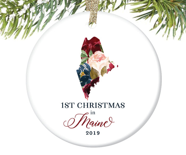 1st Christmas In Maine Christmas Ornament  |  629