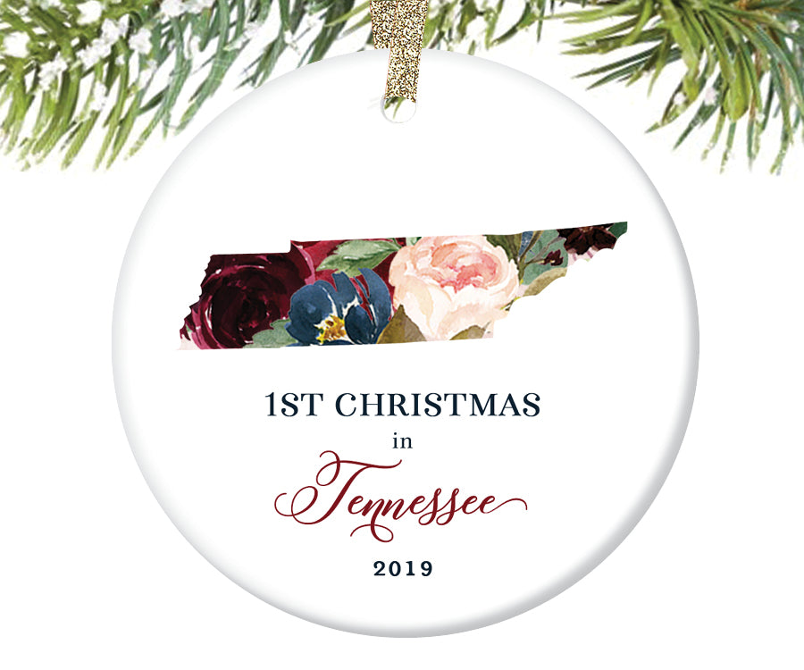 1st Christmas In Tennessee Christmas Ornament  |  640
