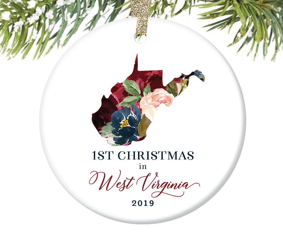 1st Christmas In West Virginia Christmas Ornament  |  646