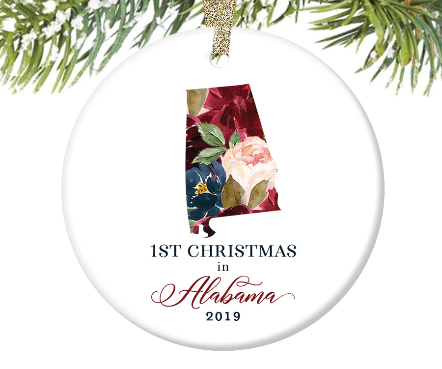 1st Christmas In Alabama Christmas Ornament  |  649