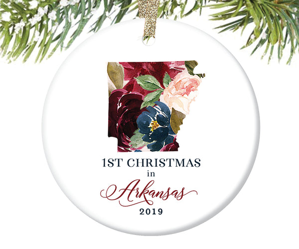 1st Christmas In Arkansas Christmas Ornament  |  652