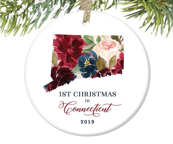 1st Christmas In Connecticut Christmas Ornament  |  654