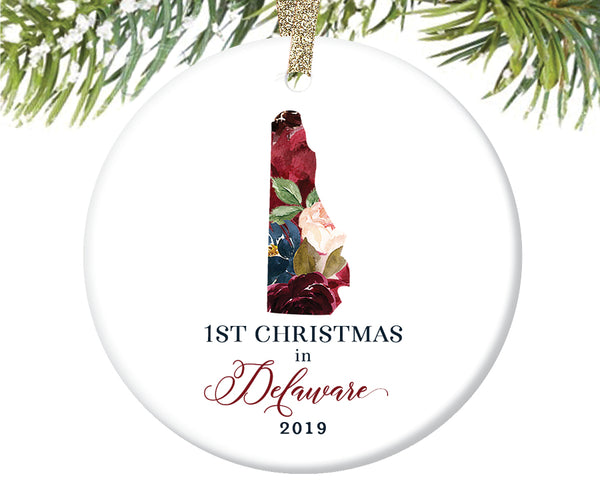 1st Christmas In Delaware Christmas Ornament  |  655