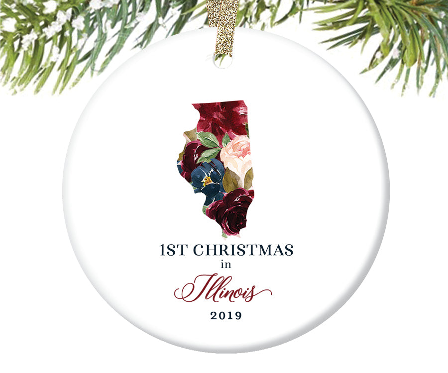 1st Christmas In Illinois Christmas Ornament  |  657