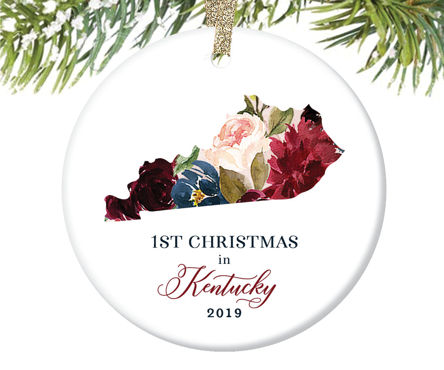 1st Christmas In Kentucky Christmas Ornament  |  660