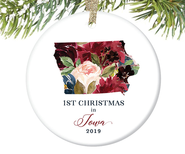1st Christmas In Iowa Christmas Ornament  |  662