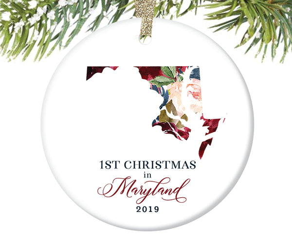 1st Christmas In Maryland Christmas Ornament  |  663