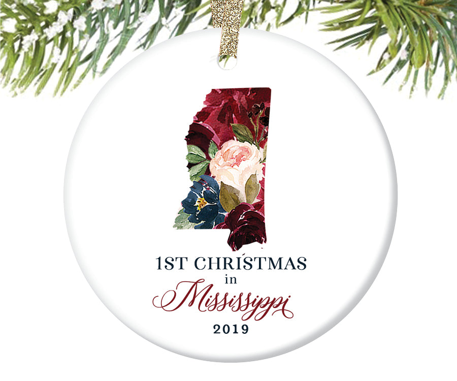1st Christmas In Mississippi Christmas Ornament  |  667
