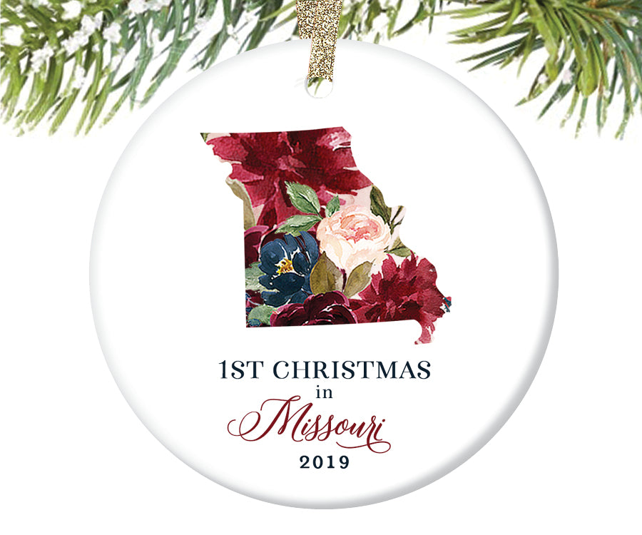 1st Christmas In Missouri Christmas Ornament  |  668