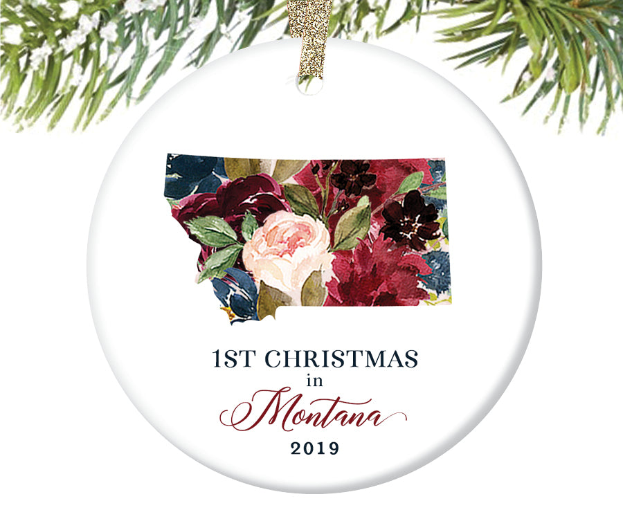 1st Christmas In Montana Christmas Ornament  |  669
