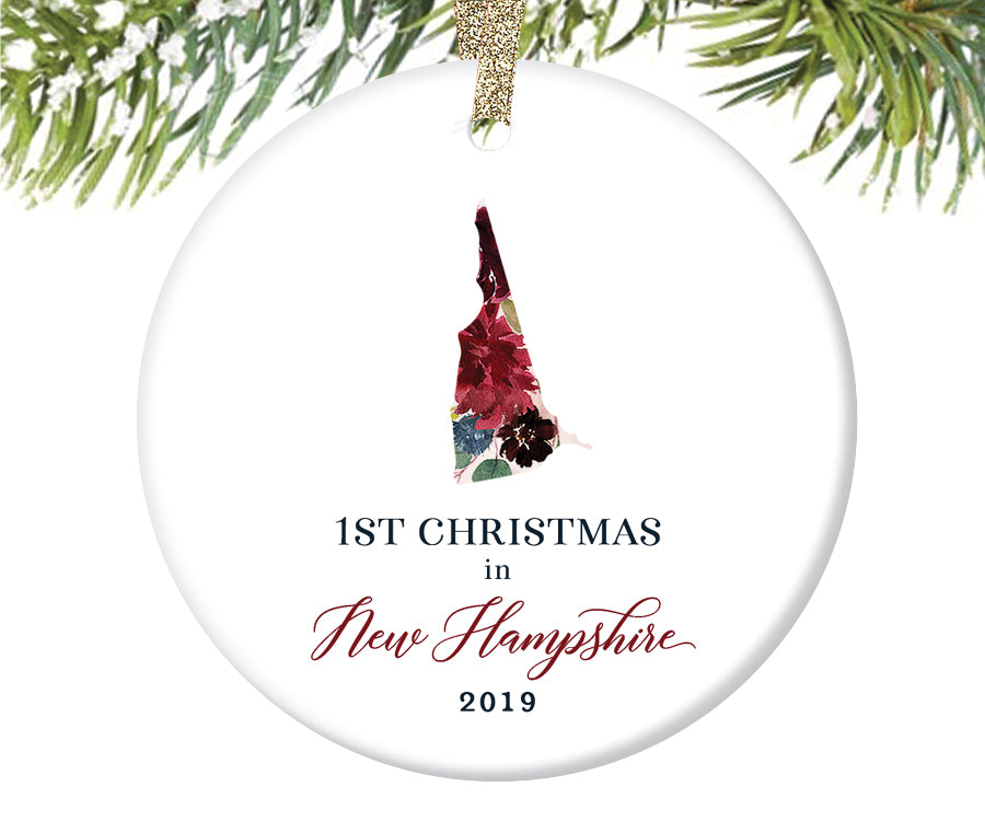 1st Christmas In New Hampshire Christmas Ornament  |  673