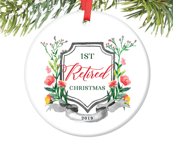 Retirement Christmas Ornament, Personalized | 676