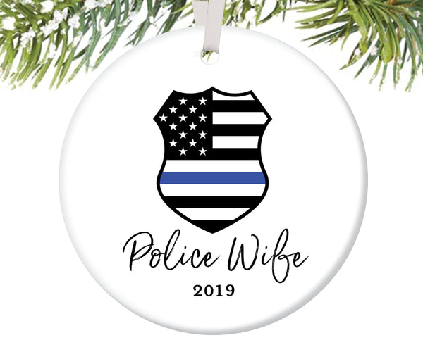Police Wife Christmas Ornament, Personalized | 703