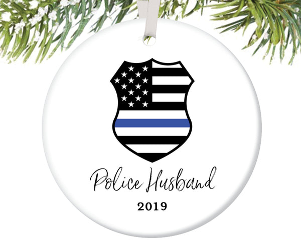 Police Husband Christmas Ornament, Personalized | 704