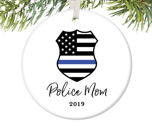 Police Mom Christmas Ornament, Personalized | 705