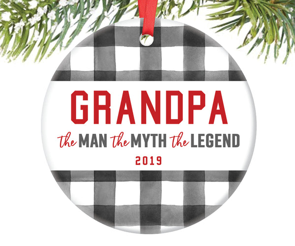 Grandpa Man Myth Legend Ornament, Personalized | 708