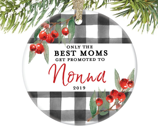 Promoted to Nonna Christmas Ornament, Personalized | 713