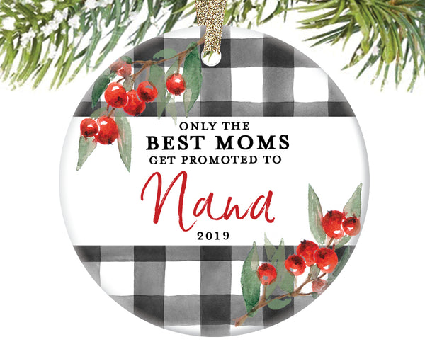 Promoted to Nana Christmas Ornament, Personalized | 714