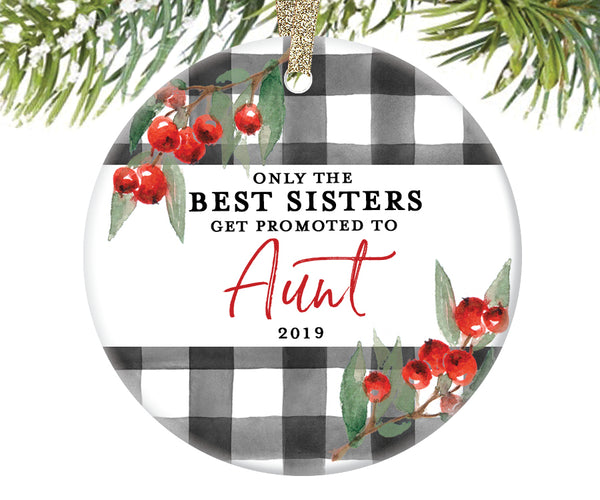 Promoted to Aunt Christmas Ornament, Personalized | 715
