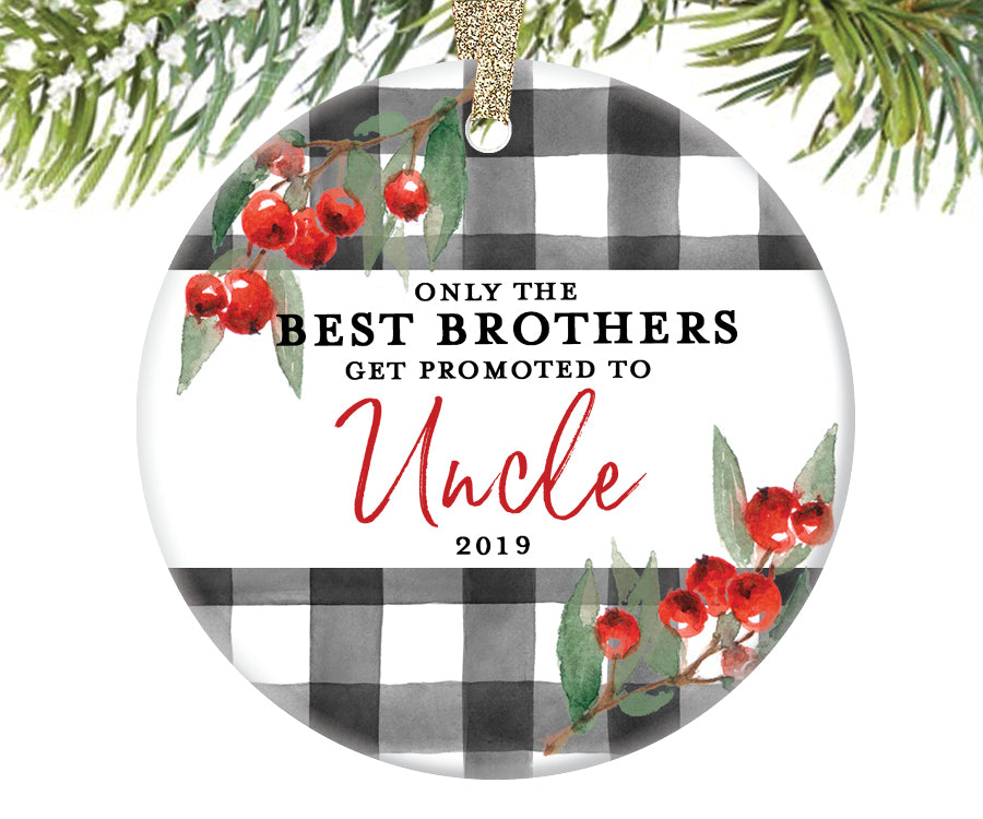 Promoted to Uncle Christmas Ornament, Personalized | 716