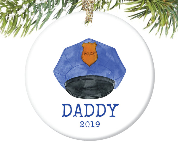 Police Daddy Christmas Ornament, Personalized | 722