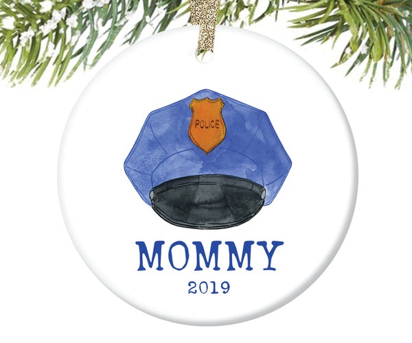 Police Mommy Christmas Ornament, Personalized | 724