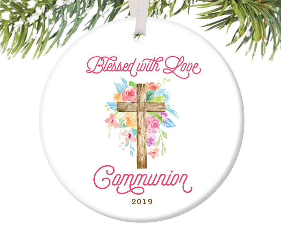 Blessed with Love Communion Ornament, Personalized | 730