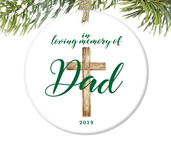 In Loving Memory of Dad Ornament, Personalized | 731