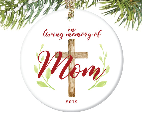 In Loving Memory of Mom Ornament, Personalized | 732