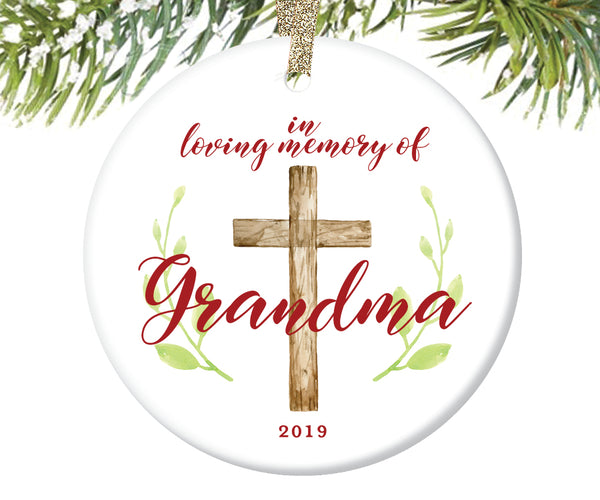 In Loving Memory of Grandma Ornament, Personalized | 733