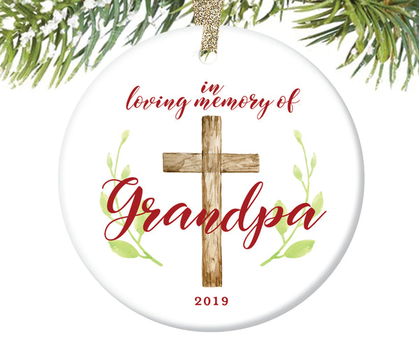 In Loving Memory of Grandpa Ornament, Personalized | 734
