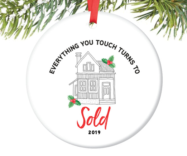 Real Estate Agent Ornament, Personalized | 736