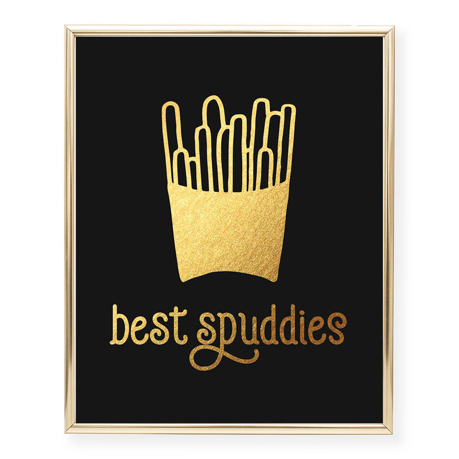 Best Spuddies Foil Art Print