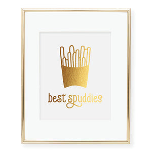 Best Buddies French Fries Foil Art Print