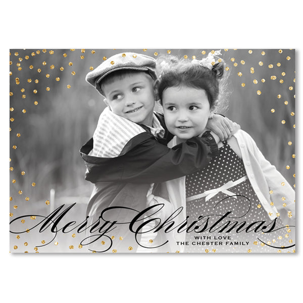 Gold and Black Holiday Card
