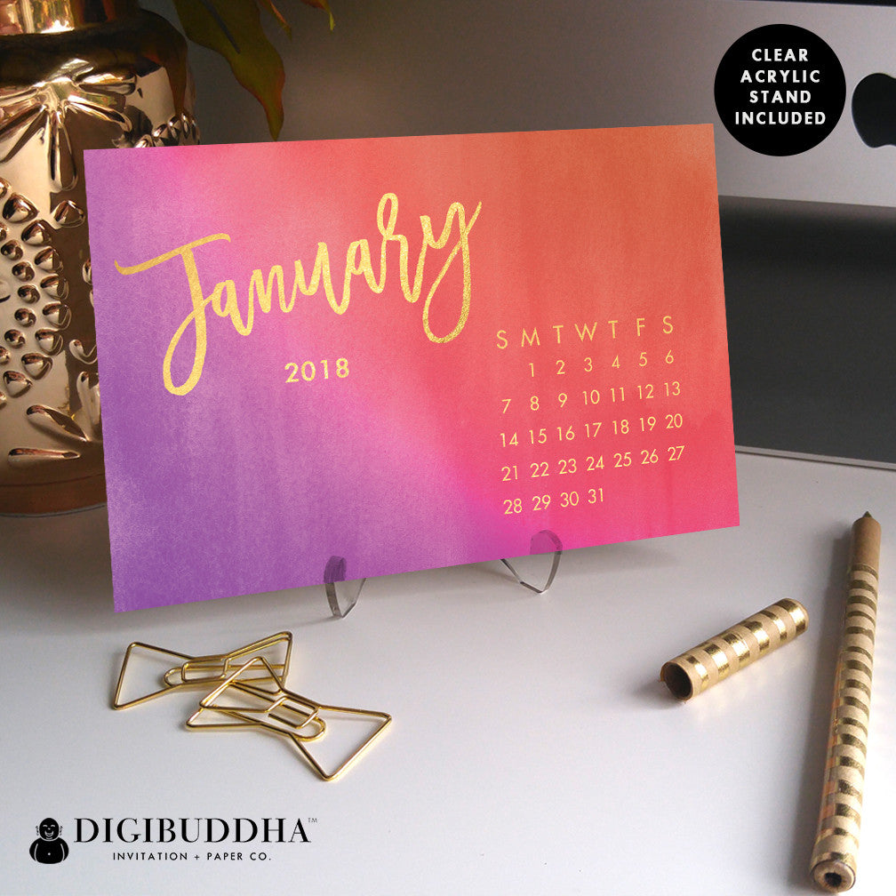 2018 Desk Calendar by Digibuddha | Katia Ombre