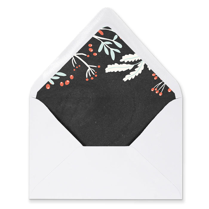 Christmas Chalk Envelope Liners | Dorothy