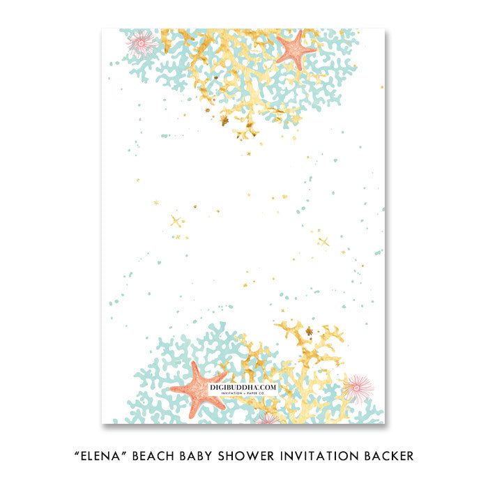 """Elena"" Beach Baby Shower Invitation"