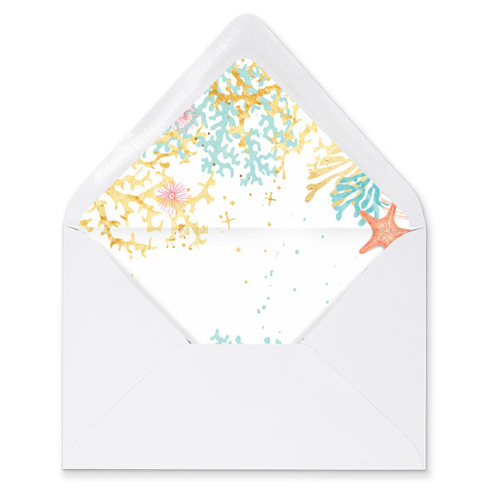 """Elena"" Beach Envelope Liners"