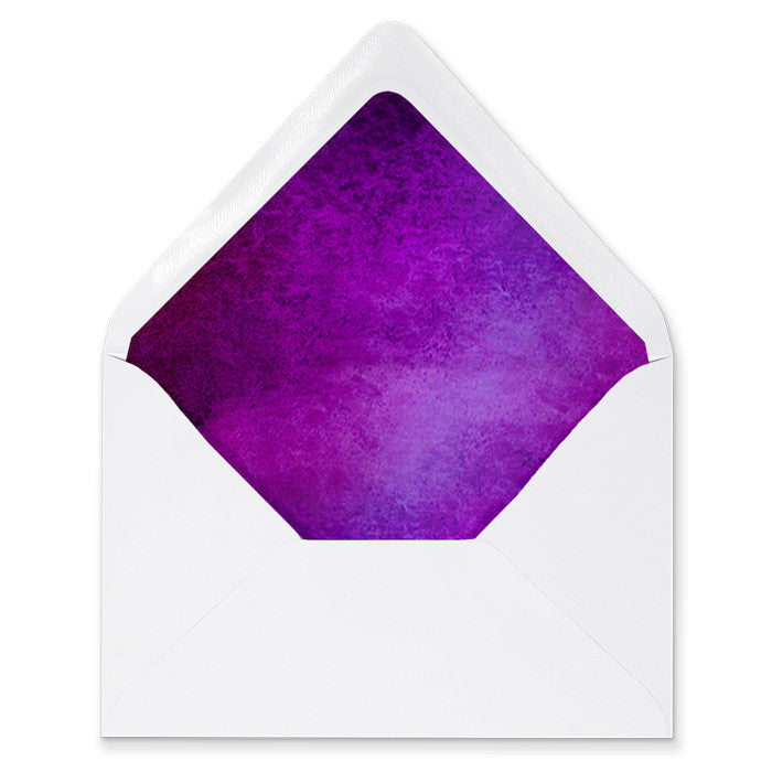 """Erika"" Purple Watercolor Envelope Liners"