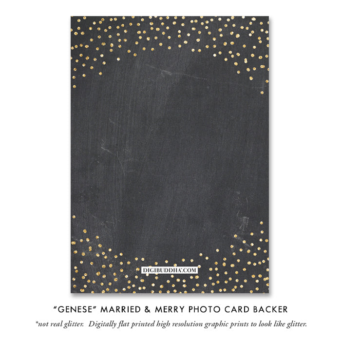 Chalk Newlywed Photo Card | Genese