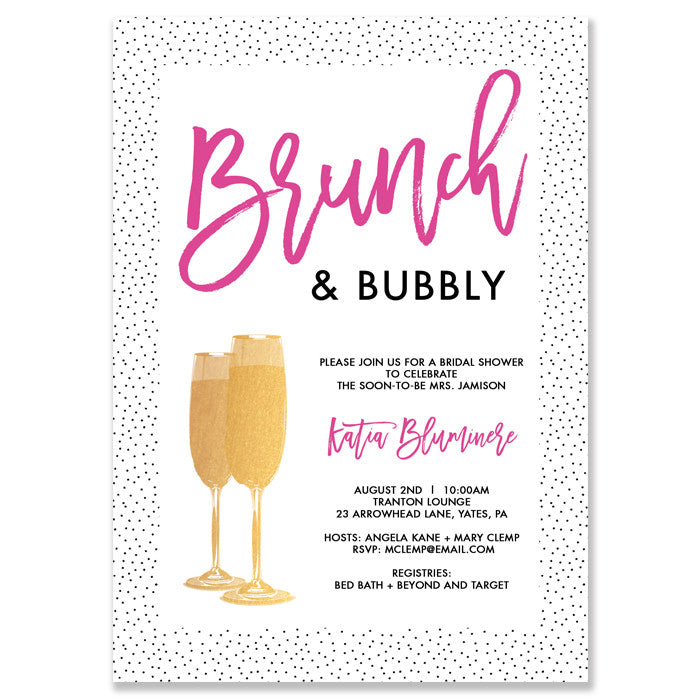 Brunch and Bubbly Bridal Shower Invitation
